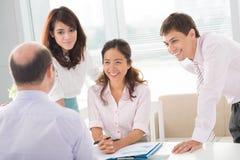 Consultative moment Stock Image