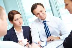 Consultazione Immagine Stock