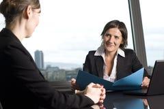 Consultazione con il Consigliere di imposta Fotografia Stock