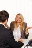Consultazione. Consultazione e discussione Fotografie Stock