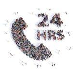Consultazione 3d del microtelefono della gente Immagini Stock Libere da Diritti