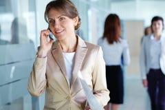 Consultazione del telefono Immagine Stock Libera da Diritti