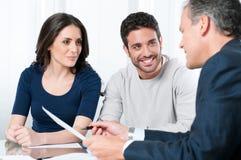 Consultazione di piano finanziario fotografie stock