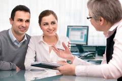 Consultazione di piano finanziario Fotografia Stock