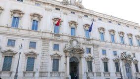 Consulte el palacio Roma, Italia - 18 de febrero de 2015: almacen de video