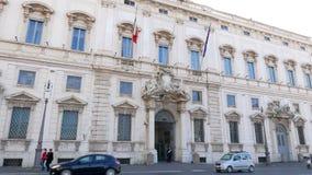 Consulte el palacio Roma, Italia - 18 de febrero de 2015: almacen de metraje de vídeo