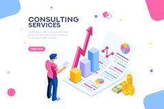 Consulte el vector isométrico corporativo de la administración del concepto libre illustration