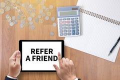 Consulte um amigo imagens de stock royalty free