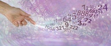 Consulte um Numerologist e aprenda-o sobre seus NÚMEROS imagem de stock royalty free