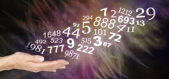 Consulte um Numerologist e aprenda-o sobre seus NÚMEROS pessoais foto de stock royalty free