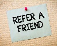 Consulte uma mensagem do amigo Fotografia de Stock