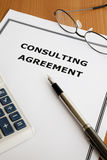Consulting Agreement. Image of a consulting agreement on an office table Stock Photo