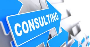 Consulting on Blue Arrow. Royalty Free Stock Photos