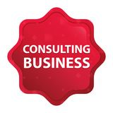 Consulting Business misty rose red starburst sticker button royalty free illustration