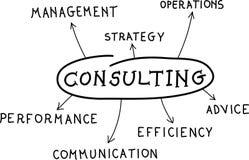 Consulting. Business success diagram illustration Stock Photo