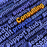 Consulting business words. Words related to consulting and advisory or think tank service Stock Images