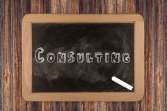 Consulting  - chalkboard Stock Photography