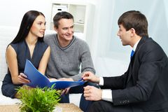 Consulting clients Stock Image