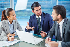 Consulting with colleague Stock Photos