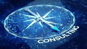 Consulting concept - Compass needle pointing Consulting word Stock Image