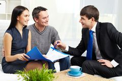 Consulting couple Stock Photography