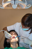 Consulting a dentist Royalty Free Stock Images