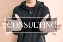 Consulting on a digital screen Royalty Free Stock Photography