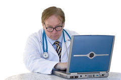 Consulting Doctor. The doctor preparing to give the test results to the patient Stock Photo
