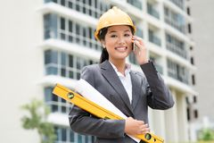 Consulting engineer royalty free stock photography