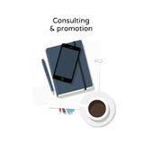 Consulting - flat design illustration Royalty Free Stock Photography
