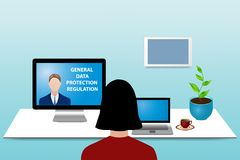 Consulting General Data Protection Regulation concept vector royalty free illustration