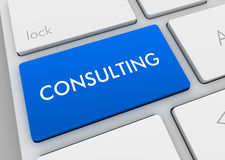 Consulting keyboard concept illustration Stock Images