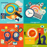 Consulting, Management, SEO and Strategy Concept Stock Image