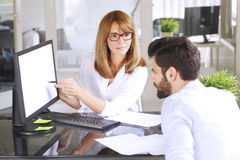 Consulting at office Stock Images