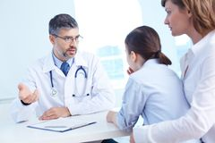 Consulting patient Royalty Free Stock Image