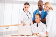 Consulting about proper treatment. Stock Photo