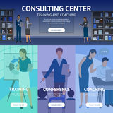 Consulting Service Center Banners Royalty Free Stock Photos