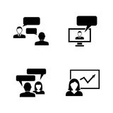 Consulting. Simple Related Vector Icons Royalty Free Stock Image