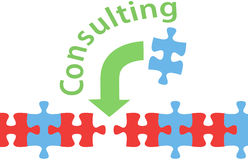Consulting solution puzzle help answer vector illustration