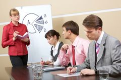 Consulting with teacher Royalty Free Stock Images