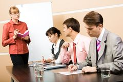 Consulting with teacher Stock Photography