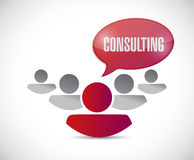 Consulting team illustration design Stock Photos