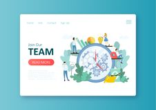 Consulting team. Work vector illustration