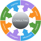 Consulting Word Circle Concept Royalty Free Stock Images