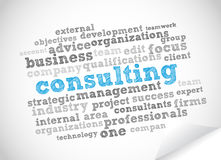 Consulting word cloud Stock Photo