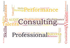 Consulting word cloud Royalty Free Stock Images