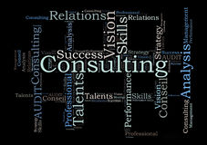 Consulting word cloud Royalty Free Stock Image