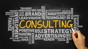 Consulting word cloud concept royalty free stock photography