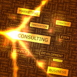 CONSULTING. Word cloud illustration. Tag cloud concept collage Stock Photo