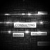 CONSULTING. Word cloud illustration. Tag cloud concept collage Royalty Free Stock Images